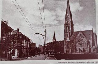Lutherkirche mit der Ecke Mansfelder Straße - ca 1923