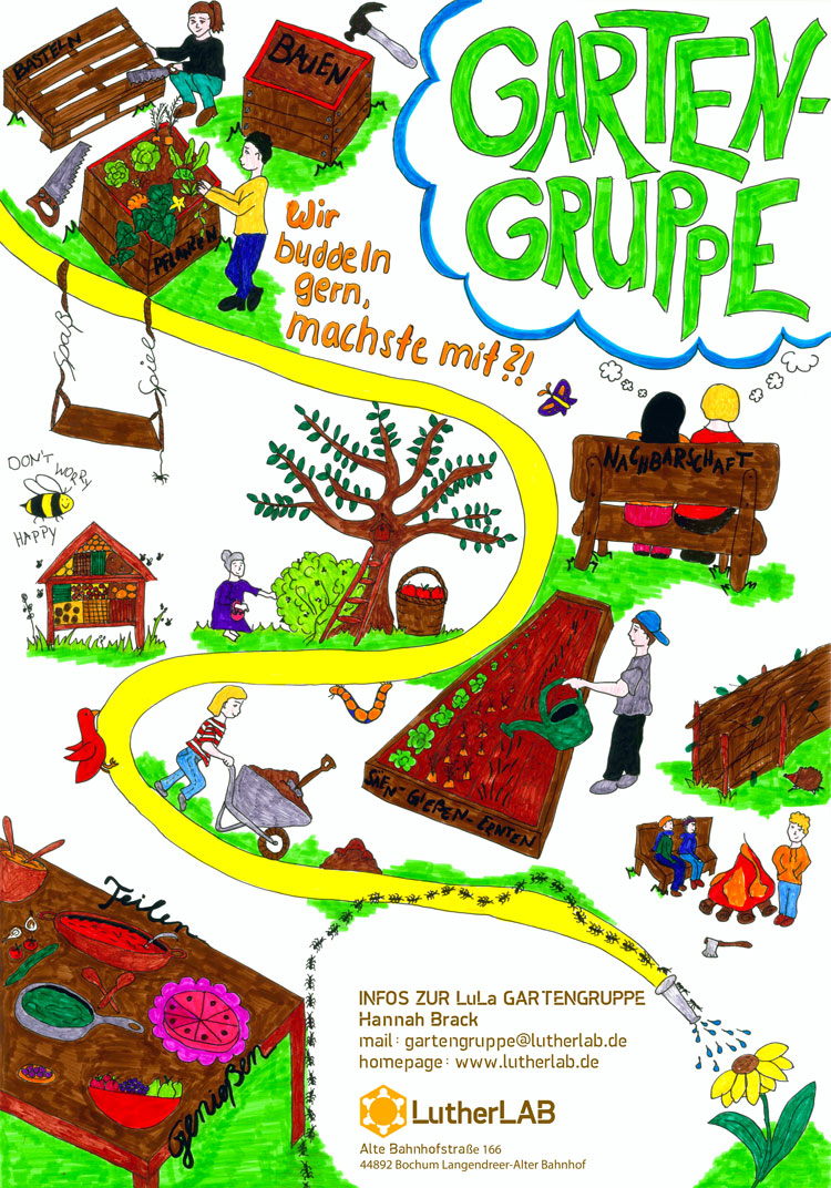 Plakat der Gartengruppe